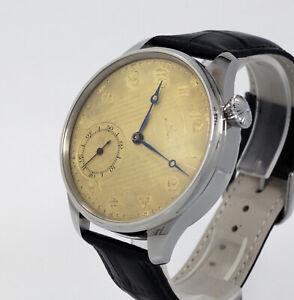 Vintage 1900s Man Omega Swiss pocket watch movement Cal40.6+origin dial+new case