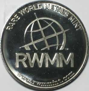 RARE WORLD METALS MINT NICKEL BULLION ROUND .995 NICKEL 1 OZ
