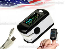 USA Fingertip Pulse Oximeter Sleep Study SpO2 PR blood oxygen monitor+USB+PC SW