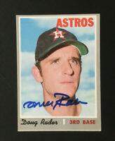 Doug Rader Astros signed 1970 Topps baseball card #335 Auto Autograph