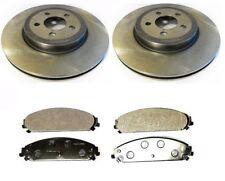 SET OF 2 FRONT 345mm BRAKE DISCS & SEMI-METALLIC PADS CHRYSLER 300C 2005-2013