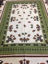 Tablecloth Green Folk Art