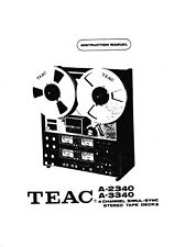 Bedienungsanleitung-Operating Instructions für Teac A-2340,A-3340