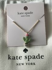 Kate Spade 12k Gold-plated Scenic Route Penny Cactus Pendant Necklace Ks97a