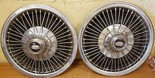 1970 - 1973 Mercury Cougar Wire Wheel Covers - 71 72 Hubcaps - Set of 2