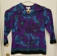 Diane von Furstenberg Silk Assets Blouse 100% Silk Size Small