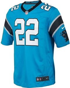 Men's Carolina Panthers Christian McCaffrey Nike Game Jersey Blue #22 479410-463