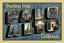 GREETINGS FROM PALO ALTO New Large Letter Postcard Signed Ltd. Edition of 100