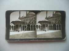STEREOVIEW PHOTO EGYPT MOSQUE MOHAMMED ALI CAIRO 1901