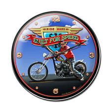 RIDE HARD Wanduhr groß V2 Uhr Clock Werkstatt Harley Indian Bike Motorcycle USA