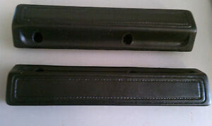 1966-70 Dodge Plymouth B-body C-Body Charger 13 Inch Black Arm Rest Pads Mopar