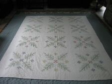 New Hand Painted Hand Quilted Twin Size Quilt - Stunning