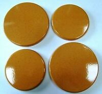 """New Set 4 """"YELLOW GRANITE"""" Enamel Electric Oven Hob Covers 2 x 16cm and 2 x 20cm"""