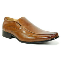 NEW MENS LEATHER SMART WEDDING ITALIAN FORMAL OFFICE SLIP ON LACE BOYS SHOE SIZE