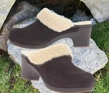 CROCS Sarah Luxe Women's Lined Suede Clog Mules Espresso SELECT SIZE (6 & 7)