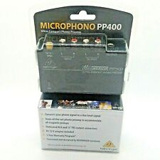 "Behringer Microphono PP400 Ultra-Compact Phono Preamp RCA 1/4"" NEW in Package"