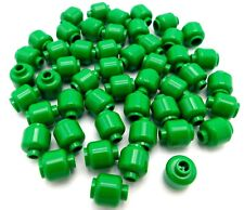 LEGO LOT OF 50 NEW PLAIN GREEN MINIFIGURE HEADS MONSTER PIECES