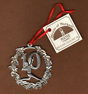 """House of Morgan Pewter Christmas Ornament # 10 Man Running Sports Athletic 3.25"""""""