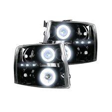 RECON 264195BKCC Chevy Silverado 1500 07-13 Clear-Smoked Headlights Projector