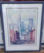 NEW YORK CITY MARATHON QUEENS SIGNED PRINT, 259/950, CAROLYN ANDERSON