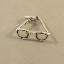 .925 Sterling Silver 3-D SUNGLASSES CHARM Pendant NEW Eye Glasses 925 DU84