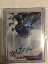 ANTHONY ALFORD TORONTO BLUE JAYS 2016 BOWMANS BEST PROSPECT ON-CARD AUTO B16-AA