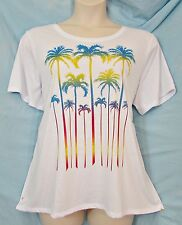 Avenue Fun Tropical Palm Trees Rhinestones Glimmer Flecks Top 3X 22/24 NWT