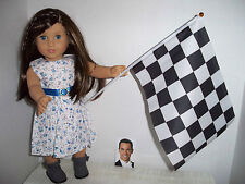 "RACE DAY set for American Girl doll GRACE or any 18"" doll Inspired by INDY 500"