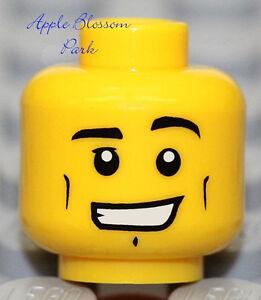 NEW Lego Male MINIFIG HEAD Boy w/Smile -City/Kingdoms/Pirate/Castle/Police Agent