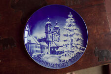 Weihnachten 1967 collector plate Bavaria Germany Bareuther Christmas (t8)