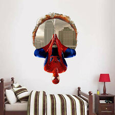 Spiderman Wall Stickers Boys Bedroom Decor Removable Vinyl Paper Home Decals