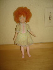 KNICKERBOCKER TOY CO. VINTAGE ANNIE DOLL YELLOW  PARTY DRESS POSEABLE DOLL 80'S