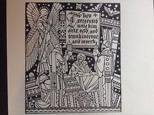 1930 S stampa di una xilografia da C B cade dalla Storia della nascita di Gesù Cristo
