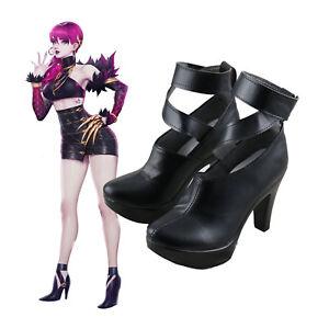 LOL KDA Evelynn Black High Heels Boots Cosplay Shoes Cos Props