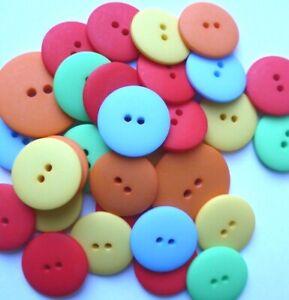 Matt Smartie Buttons - Many Colours -  15,  20, 23mm, 25mm