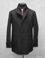 HUGO BOSS Camlow Wool/Cashmere  Layered Zip Lining Peacoat Jacket Size 46 R $695