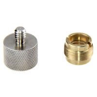 "Microphone Mic Screw Clip Thread Adaptor 1/4"" 3/8"" to 5/8""  For Shock Mount"