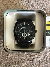 Black Fossil Watch. Rubber band. Barely worn. In great condition.