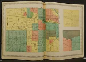 Michigan Shiawassee County Map City of Owosso 1895  Double Page  !J8#75
