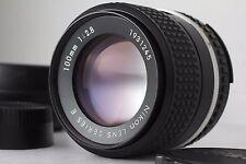 """NearMINT"" Nikon Ai-s 100mm f/2.8 Series E Ais MF Lens w/Hood Filter #1979"