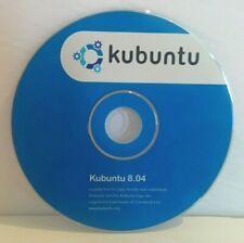 KUBUNTU LINUX 8.04 ORIGINAL CD DISC WITH SLEEVE COVER