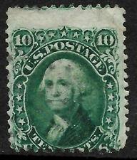 Sc #68 Misperf Margin Light Cancel Washington 10 Cent 1861 Civil War US 25B73