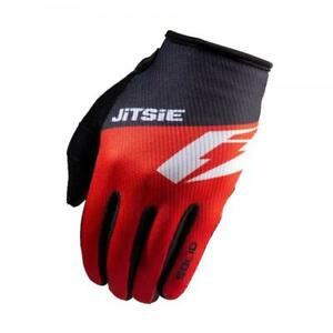 JITSIE G2 SOLID TRIALS BIKE RIDING GLOVES. RED. GREAT QUALITY. *BEST SELLER*