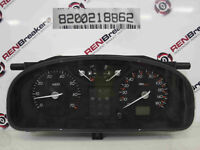 Renault Laguna 2001-2005 Instrument Panel Dials Gauges Clocks 109K 8200218862