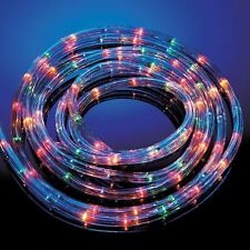 NEW MULTI COLOURED ROPE LIGHTS IN/OUT DOOR 6/10/20/25M XMAS STATIC FLASHING