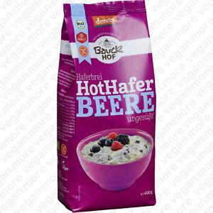 BauckHof Bio Porridge Hot Hafer Beere, 400 g | vegan | glutenfrei laktosefrei