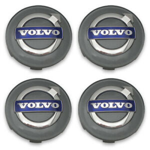 Volvo Gray Blue Wheel Center Cap  XC60 XC70 XC90 Set of 4 Genuine OEM 2 1/2""