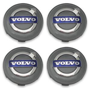 """Volvo Gray Blue Wheel Center Cap  XC60 XC70 XC90 Set of 4 Genuine OEM 2 1/2"""""""