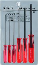 set hex drivers 1.5mm 2.0mm 2.5mm 3.0mm 4.0mm 5.0mm small sizes allen key ended