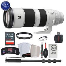 Sony FE 200-600mm f/5.6-6.3 G OSS Lens w/ 32GB Card and Monopod Striker Bundle